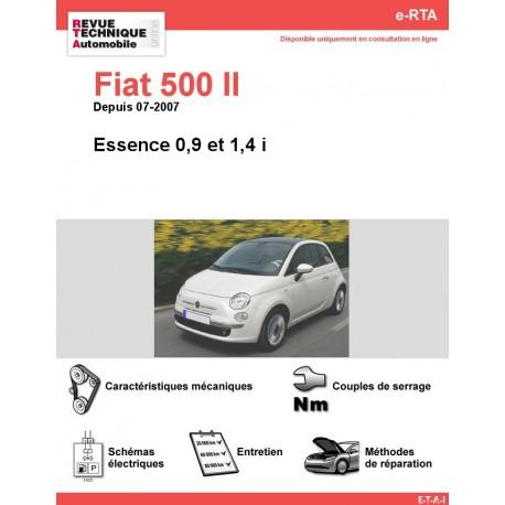 e-RTA Fiat 500 II Essence 0,9 - 1,4 i (Depuis 07-2007)