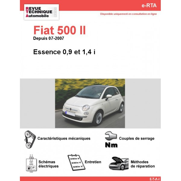 revue technique fiat 500 ii essence 0 9 1 4 i rta site officiel etai. Black Bedroom Furniture Sets. Home Design Ideas