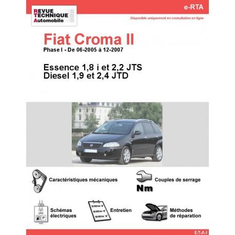 e-RTA Fiat Croma II Essence et Diesel (06-2005 à 12-2007)