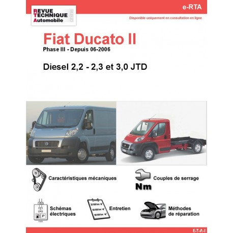e-RTA Fiat Ducato II Diesel (Depuis 06-2006)