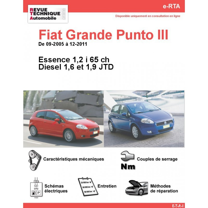 revue technique fiat grande punto iii essence et diesel rta site officiel etai. Black Bedroom Furniture Sets. Home Design Ideas