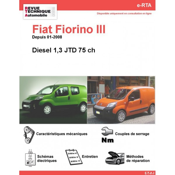 revue technique fiat fiorino iii diesel rta site officiel etai. Black Bedroom Furniture Sets. Home Design Ideas