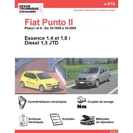 e-RTA Fiat Punto II Essence 1,4 - 1,8 i et Diesel 1,3 JTD (10-1999 à 10-2009)