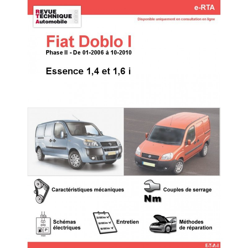revue technique fiat doblo i essence rta site officiel etai. Black Bedroom Furniture Sets. Home Design Ideas
