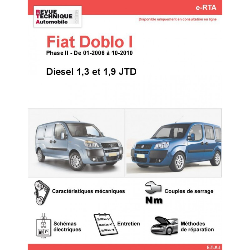 revue technique fiat doblo i diesel rta site officiel etai. Black Bedroom Furniture Sets. Home Design Ideas