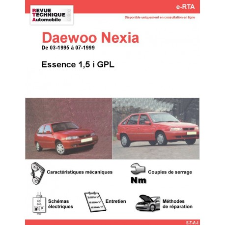e-RTA Daewoo Nexia Essence (03-1995 à 07-1999)