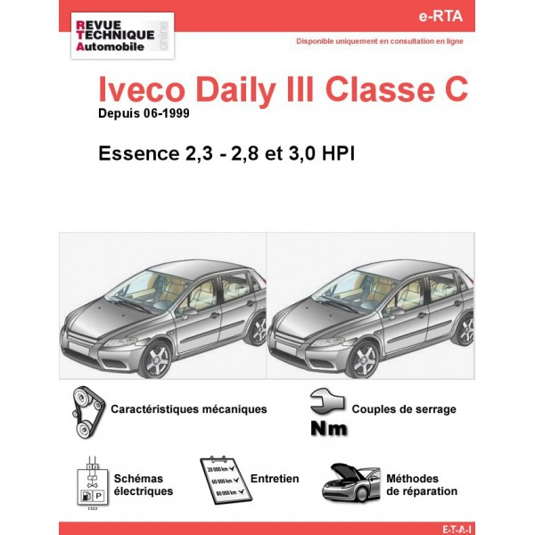 e-RTA Iveco Daily III Classe C Essence (Depuis 06-1999)