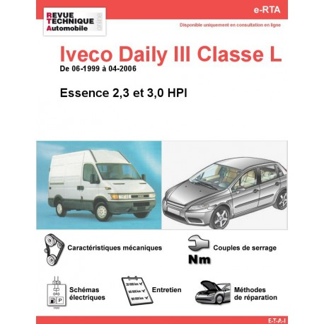 e-RTA Iveco Daily III Classe L Essence (06-1999 à 04-2006)