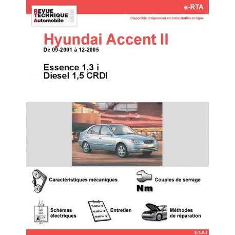 e-RTA Hyundai Accent II Essence et Diesel (09-2001 à 12-2005)