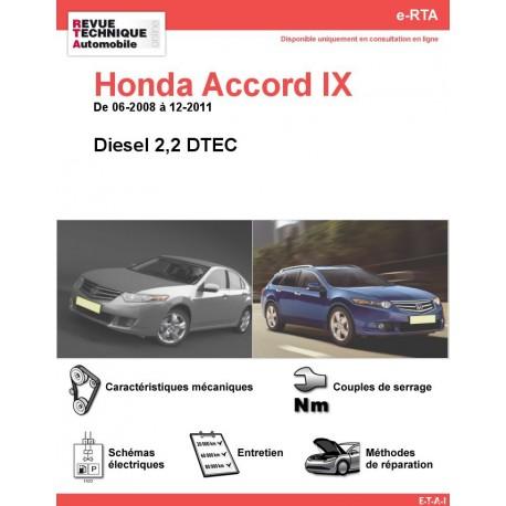 e-RTA Honda Accord IX Diesel (06-2008 à 12-2011)