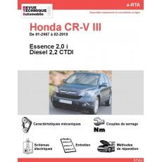 e-RTA Honda CR-V III Essence et Diesel (01-2007 à 02-2010)