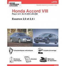 e-RTA Honda Accord VIII Essence (01-2003 à 06-2008)