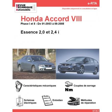 e-RTA Honda Accord VIII Essence (01-2003 à 06-2008)