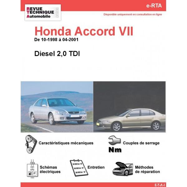 e-RTA Honda Accord VII Diesel (10-1998 à 04-2001)