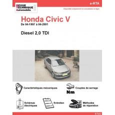 e-RTA Honda Civic V Diesel (04-1997 à 04-2001)