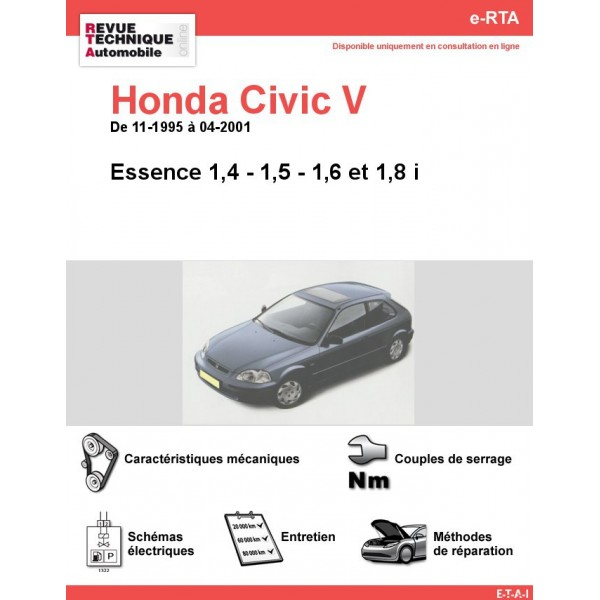 e-RTA Honda Civic V Essence (11-1995 à 04-2001)