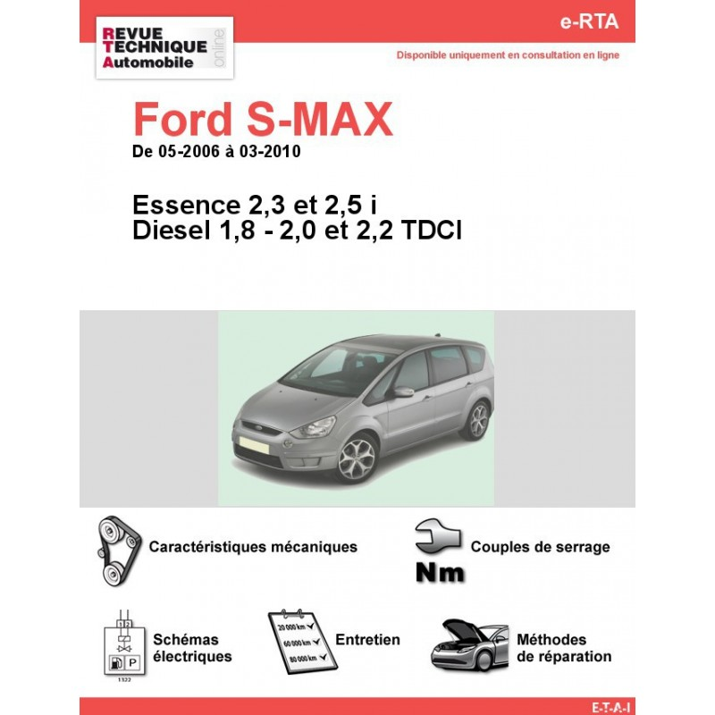 revue technique ford s max essence et diesel rta site officiel etai. Black Bedroom Furniture Sets. Home Design Ideas