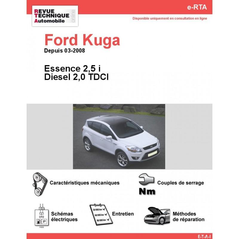 revue technique ford kuga essence et diesel rta site. Black Bedroom Furniture Sets. Home Design Ideas