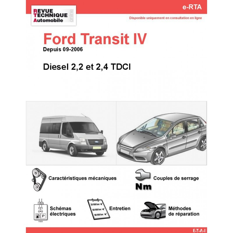 revue technique ford transit iv diesel rta site officiel etai. Black Bedroom Furniture Sets. Home Design Ideas