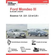 e-RTA Ford Mondeo III Essence (06-2007 à 09-2010)