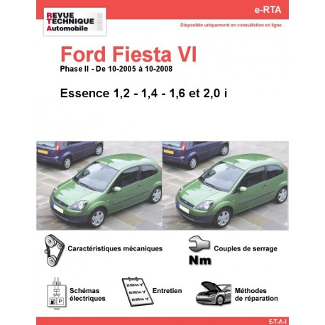 e-RTA Ford Fiesta VI Essence (10-2005 à 10-2008)