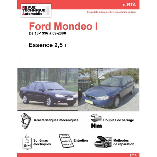 e-RTA Ford Mondeo I Essence 2,5 i (10-1996 à 09-2000)