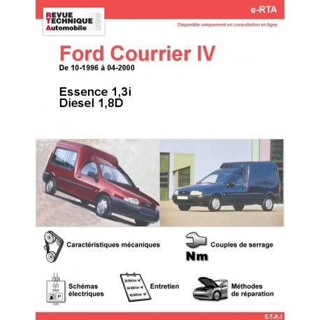 e-RTA Ford Courrier IV Essence et Diesel (10-1996 à 04-2000)