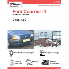 e-RTA Ford Courrier III Diesel (09-1991 à 01-1994)