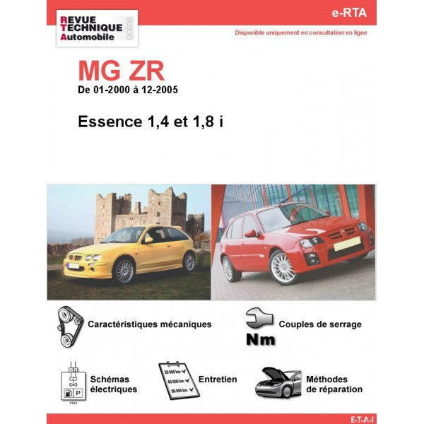 e-RTA MG ZR Essence (01-2000 à 12-2005)
