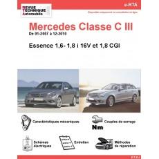 e-RTA Mercedes Classe C III (204) Essence 1,6- 1,8 i 16V et 1,8 CGI (01-2007 à 12-2010)