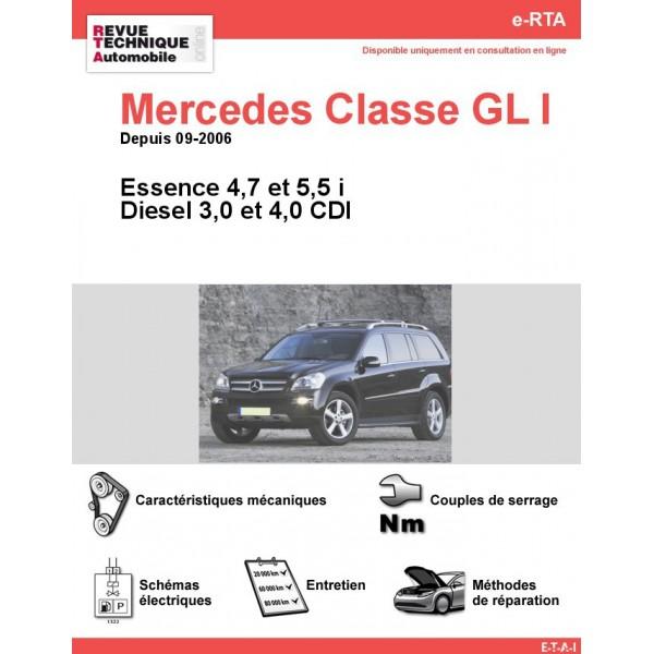 e-RTA Mercedes Classe GL I (164) Essence et Diesel (Depuis 09-2006)