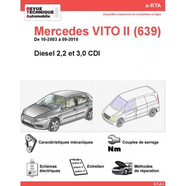 e-RTA Mercedes VITO II (639) Diesel (10-2003 à 09-2010)