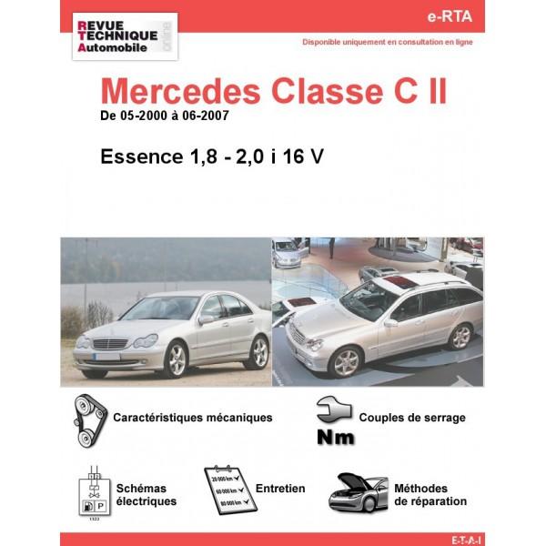 e-RTA Mercedes Classe C II (203) Essence 16 V (05-2000 à 06-2007)
