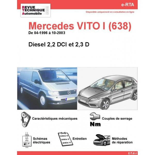e-RTA Mercedes VITO I (638) Diesel (04-1996 à 10-2003)