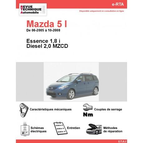e-RTA MAZDA 5 I Essence et Diesel (06-2005 à 10-2008)