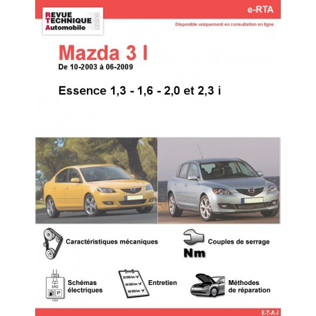 e-RTA MAZDA 3 I  Essence (10-2003 à 06-2009)