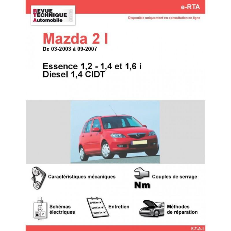 revue technique mazda 2 i essence et diesel rta site. Black Bedroom Furniture Sets. Home Design Ideas