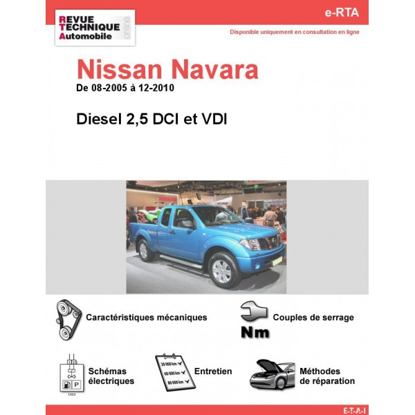 revue technique nissan navara diesel rta site officiel etai. Black Bedroom Furniture Sets. Home Design Ideas