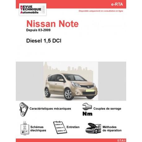 e-RTA NISSAN Note Diesel (Depuis 03-2009)