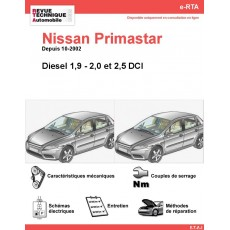 e-RTA NISSAN Primastar Diesel (Depuis 10-2002)