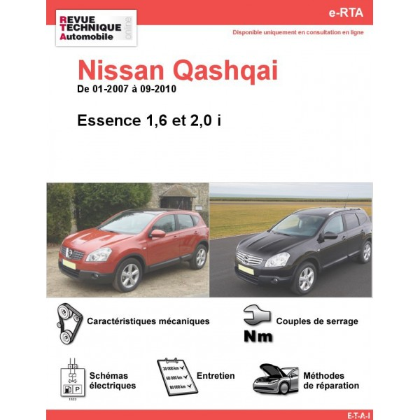 revue technique nissan qashqai essence rta site officiel etai. Black Bedroom Furniture Sets. Home Design Ideas