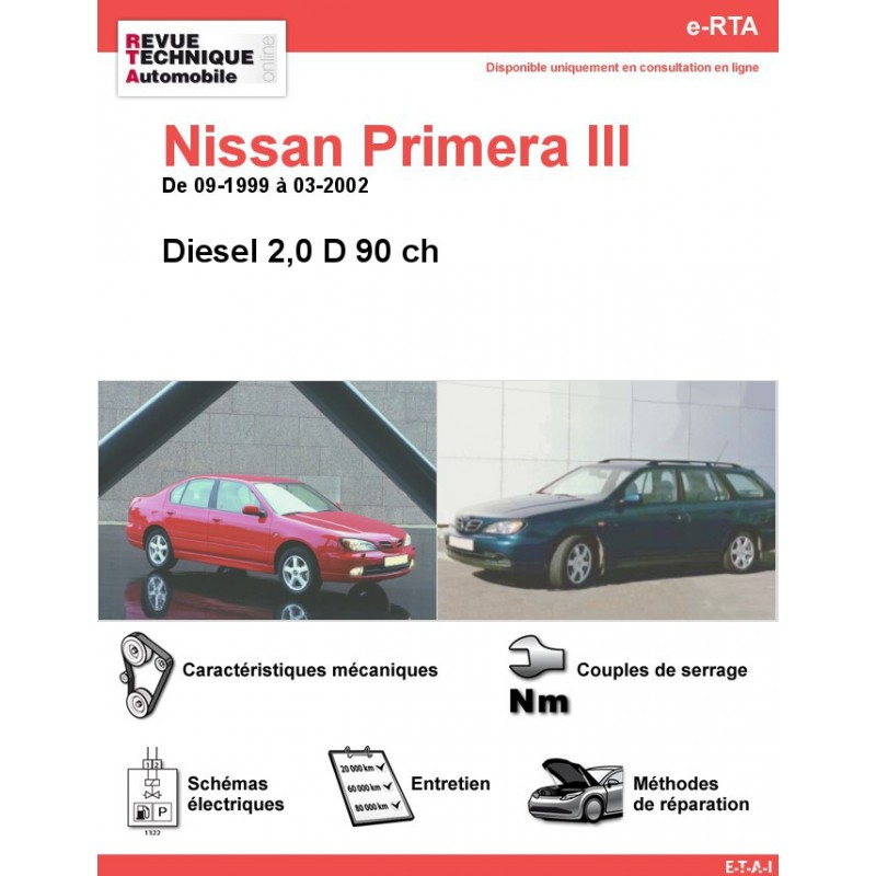 revue technique nissan primera iii diesel rta site officiel etai. Black Bedroom Furniture Sets. Home Design Ideas