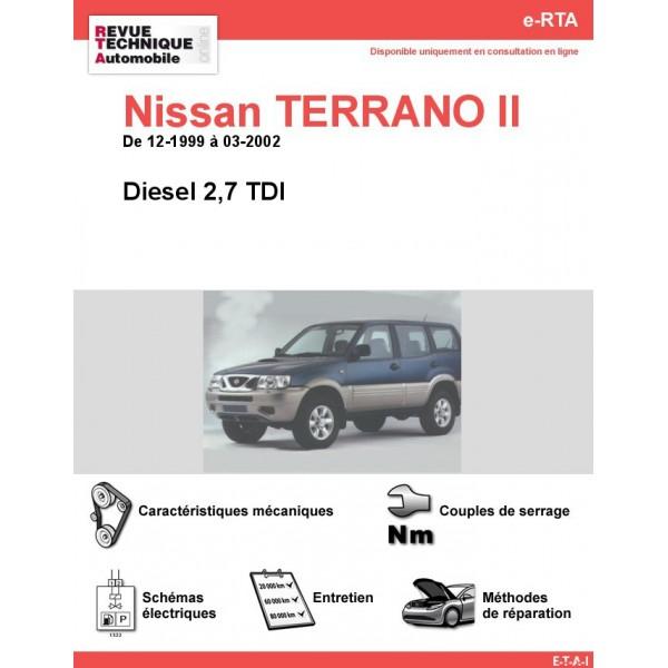Schema Elettrico Nissan Terrano 2 : Revue technique nissan terrano ii diesel tdi rta