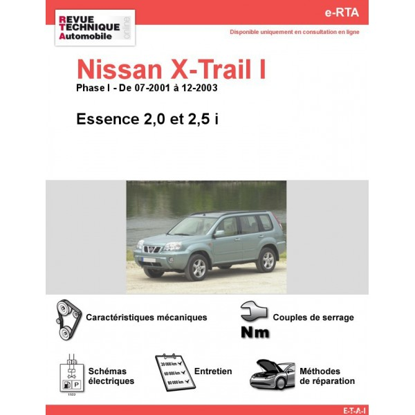 revue technique nissan x trail i essence rta site officiel etai. Black Bedroom Furniture Sets. Home Design Ideas