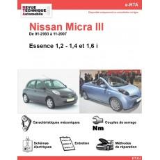 e-RTA NISSAN Micra III Essence (01-2003 à 11-2007)