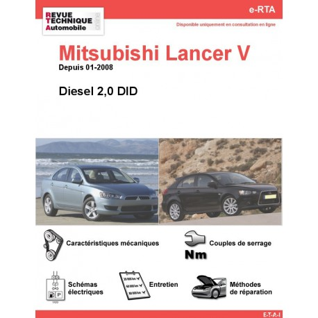 e-RTA MITSUBISHI Lancer V Diesel (Depuis 01-2008)