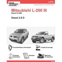 e-RTA MITSUBISHI L-200 III  Diesel (Depuis 03-2006)