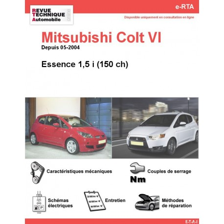 e-RTA MITSUBISHI Colt VI Essence (Depuis 03-2005)