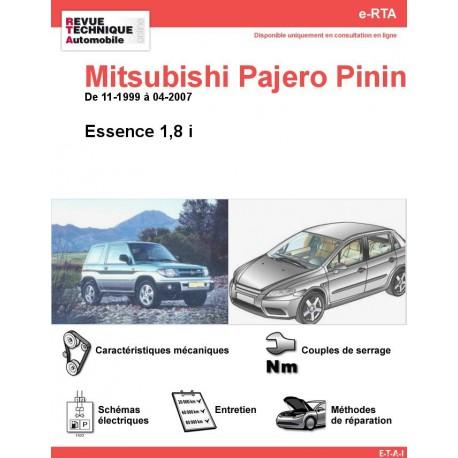 e-RTA MITSUBISHI Pajero Pinin Essence(11-1999 à 04-2007)