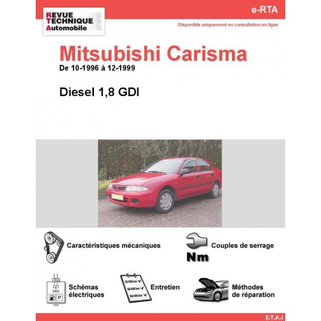 e-RTA MITSUBISHI Carisma Diesel (10-1996 à 12-1999)